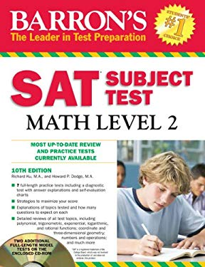 Barron's SAT Subject Test Math Level 2 [With CDROM] 9781438071916