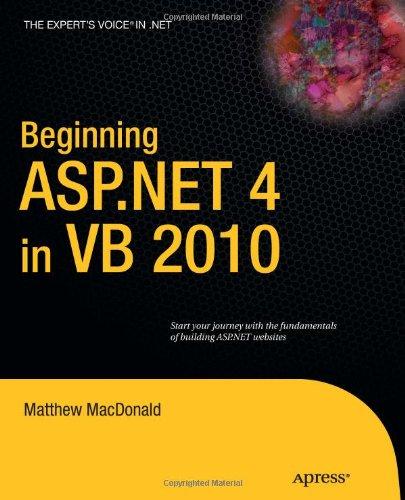 Beginning ASP.NET 4 in VB 2010 9781430226116