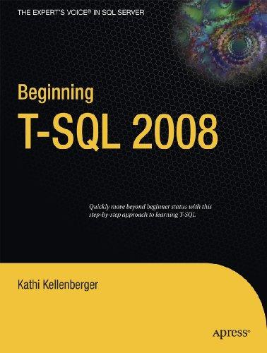 Beginning T-SQL 2008 9781430224617