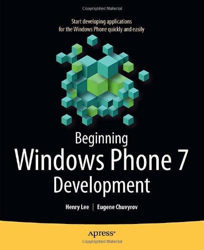 Beginning Windows Phone 7 Development 9781430232162