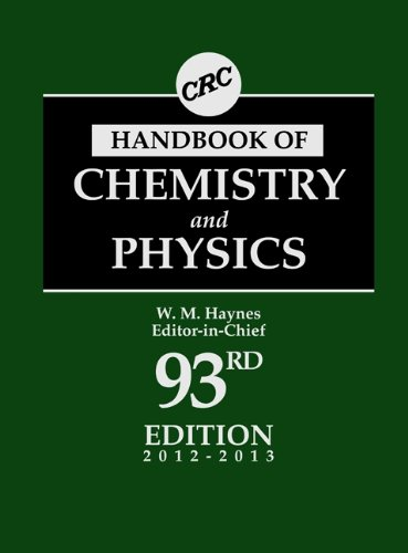CRC Handbook of Chemistry and Physics, 93rd Edition 9781439880494