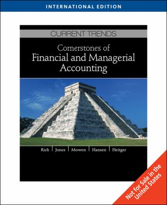 Cornerstones of Financial and Managerial Accounting 9781439041710