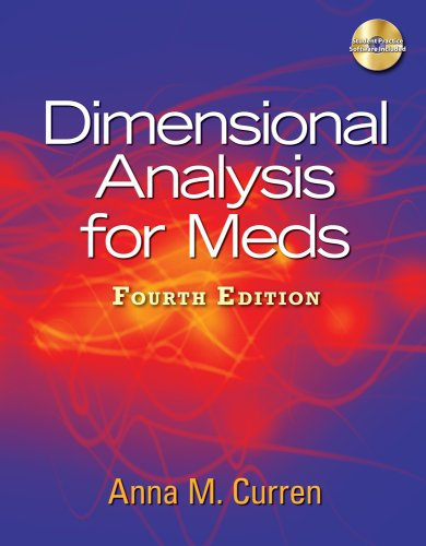 Dimensional Analysis for Meds [With CDROM] 9781435438675