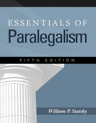 Essentials of Paralegalism 9781435427815