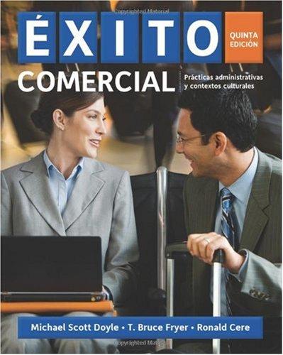 Exito Comercial: Practicas Administrativas y Contextos Culturales 9781439086124