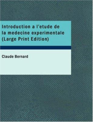 Introduction L' Tude de La M Decine Exp Rimentale 9781434630339