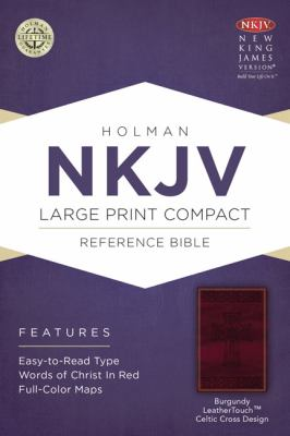 Large Print Compact Reference Bible-NKJV-Celtic Cross 9781433606434