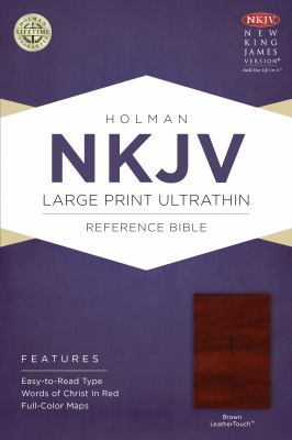 Large Print Ultrathin Reference Bible-NKJV 9781433614873