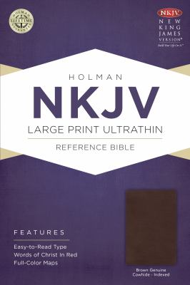 Large Print Ultrathin Reference Bible-NKJV 9781433615047