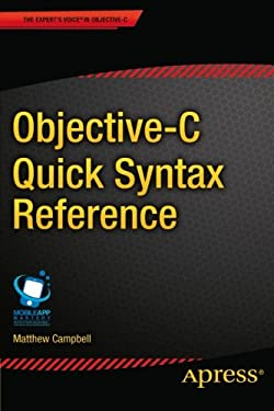 Objective-C Quick Syntax Reference 9781430264873