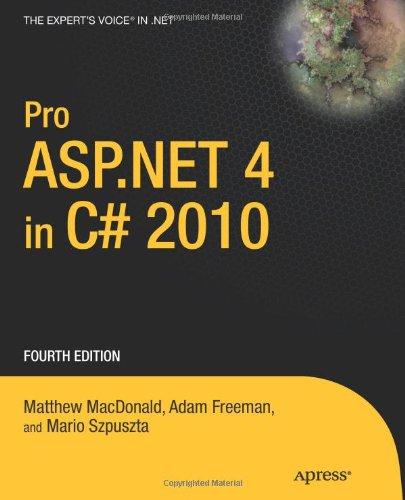 Pro ASP.Net 4 in C# 2010 9781430225294