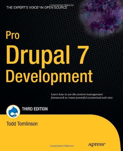 Pro Drupal 7 Development 9781430228387