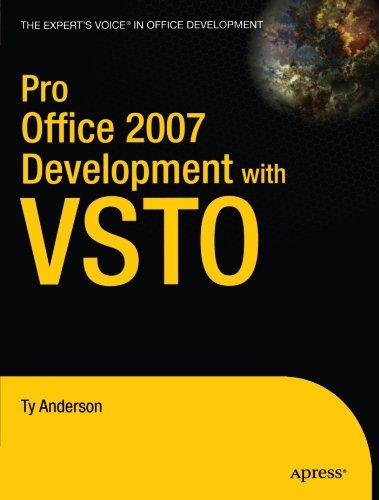 Pro Office 2007 Development with VSTO 9781430210726