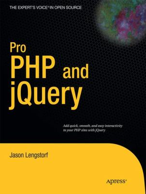 Pro PHP and jQuery 9781430228479