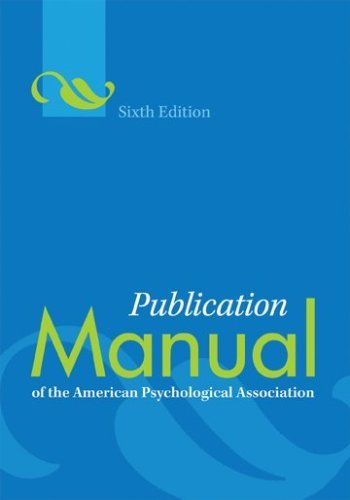 Publication Manual of the American Psychological Association 9781433805622