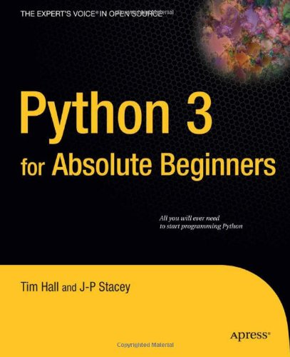 Python 3 for Absolute Beginners 9781430216322
