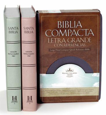 Rvr 1960 Biblia Compacta Letra Grande Con Referencias (Zafiro Azul, Simulacion Piel) 9781433600098