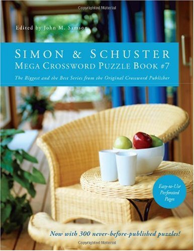 Simon & Schuster Mega Crossword Puzzle Book #7 9781439158074
