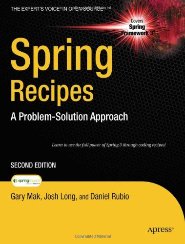 Spring Recipes: A Problem-Solution Approach 9781430224990