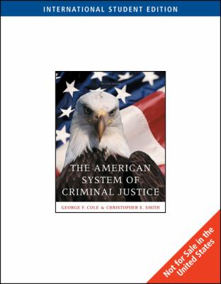 The American System of Criminal Justice 9781439036273