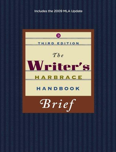 The Writer's Harbrace Handbook, Brief 9781439081846
