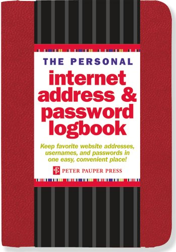 The Personal Internet Address & Password Logbook (Red) 9781441308146
