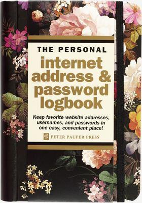 Midnight Floral Internet Address & Password Logbook