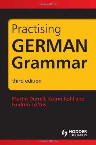 Practising German Grammar 9781444120172