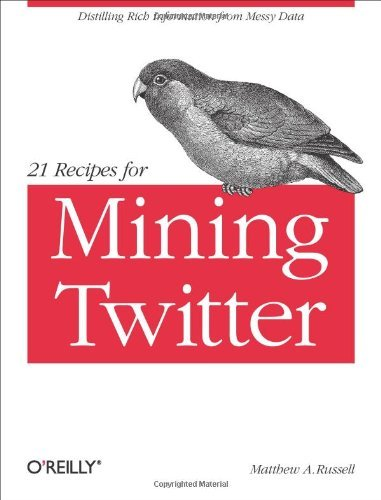 21 Recipes for Mining Twitter 9781449303167