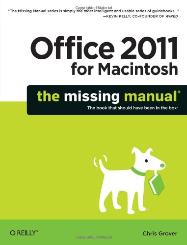 Office 2011 for Macintosh: The Missing Manual 9781449393359