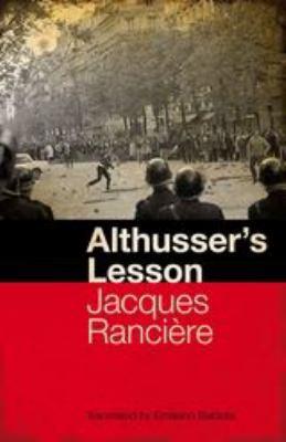 Althusser's Lesson 9781441108050