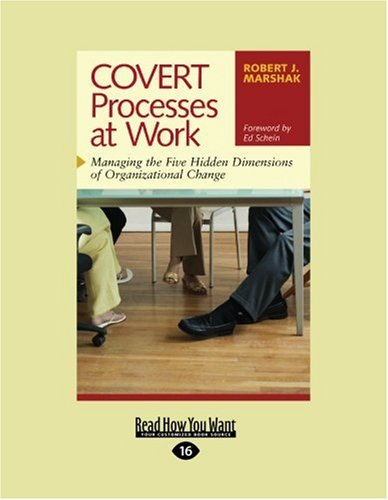 Covert Processes at Work: Managing the Five Hidden Dimensions of Organizational Change (Easyread Large Edition) 9781442954137
