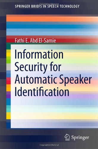 Information Security for Automatic Speaker Identification 9781441996978