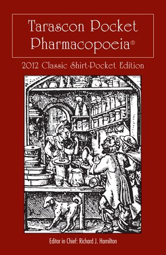 Tarascon Pocket Pharmacopoeia 2012 Classic Shirt-Pocket Edition 9781449624248
