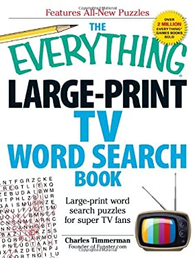 The Everything Large-Print TV Word Search Book: Large-Print Word Search Puzzles for Super TV Fans 9781440566837