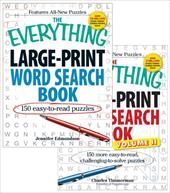 The Everything Large Print Word Search Bundle [With Paperback Book]