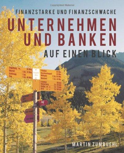 Finanzstarke Und Finanzschwache Unternehmen Und Banken Auf Einen Blick 9781450272698
