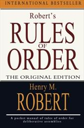 Robert's Rules of Order 13272373