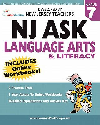 NJ Ask Practice Tests and Online Workbooks - 7th Grade Language Arts and Literacy - Student Edition 9781456399245