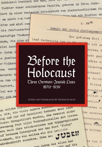 Before the Holocaust 9781456818630