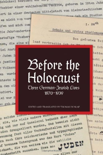 Before the Holocaust 9781456818647