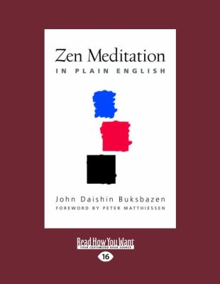 Zen Meditation in Plain English 9781458784179