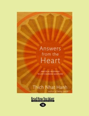 Answers from the Heart: Practical Responses to Life's Burning Questions (Easyread Large Edition) 9781458720443
