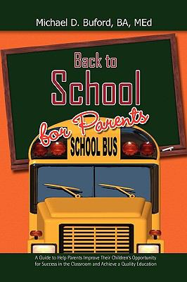 Back to School for Parents 9781450020374