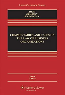 Commentaries and Cases on the Law of Business Organization, Fourth Edition 9781454813613