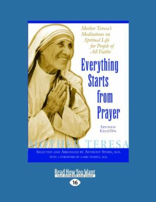 Everything Starts from Prayer 9781458778956