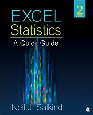Excel Statistics: A Quick Guide 9781452257921