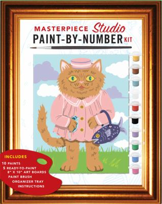 Masterpiece Studio Paint-By-Number Kit [With 5 Paint-By-Number Boards, Organizer Tray and Paint Brush and 10 Pots of Acrylic Paint] 9781452102542