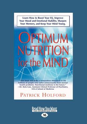 New Optimum Nutrition for the Mind (Large Print 16pt) 9781458763440