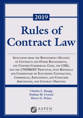 Rules of Contract Law, 2019-2020 Statutory Supplement (Supplements)